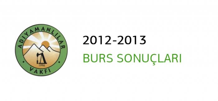 2012-2013 BURS  BAŞVURU SONUÇLARI AÇIKLANDI