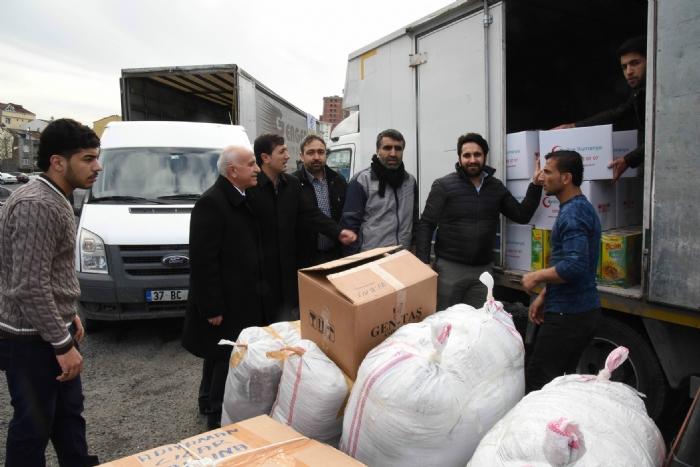 Adıyaman daki Suriyeli Kardeşlerimize İki Tır Dolusu Yardım Gönderdik
