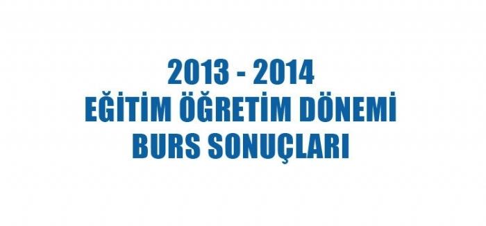 2013-2014 EĞİTİM YILI ADIYAMAN ÜNİVERSİTESİ BURS BAŞVURU SONUÇLARI