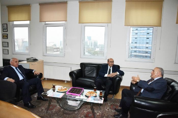 Başkan Göksu, Vali Demirtaş ve Vakıf Başkanımız Aksoy'u Ağırladı